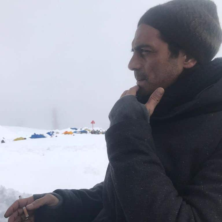 Arjun Rampal out in snow