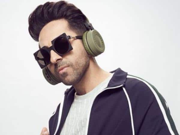Ayushmann Khurrana with headphones on