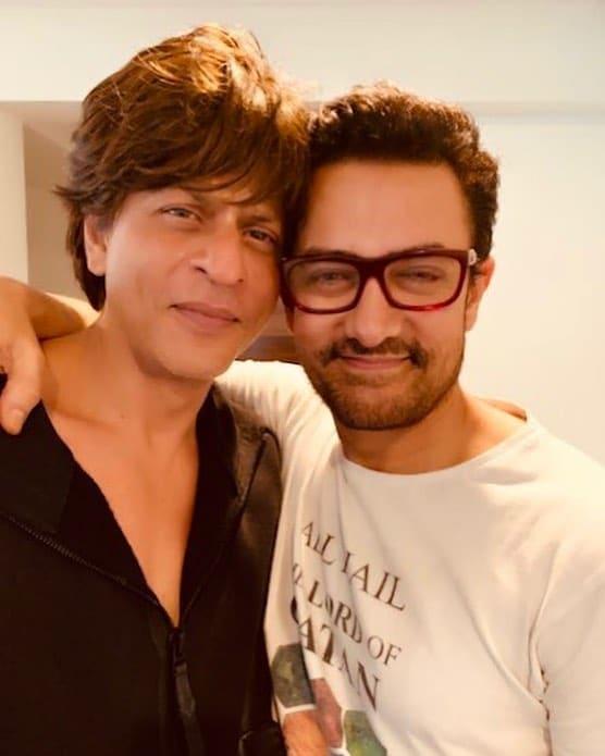 Shah Rukh Khan with Aamir khan