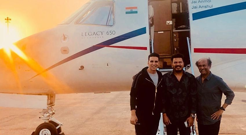 akshay kumar with rajni kaanth