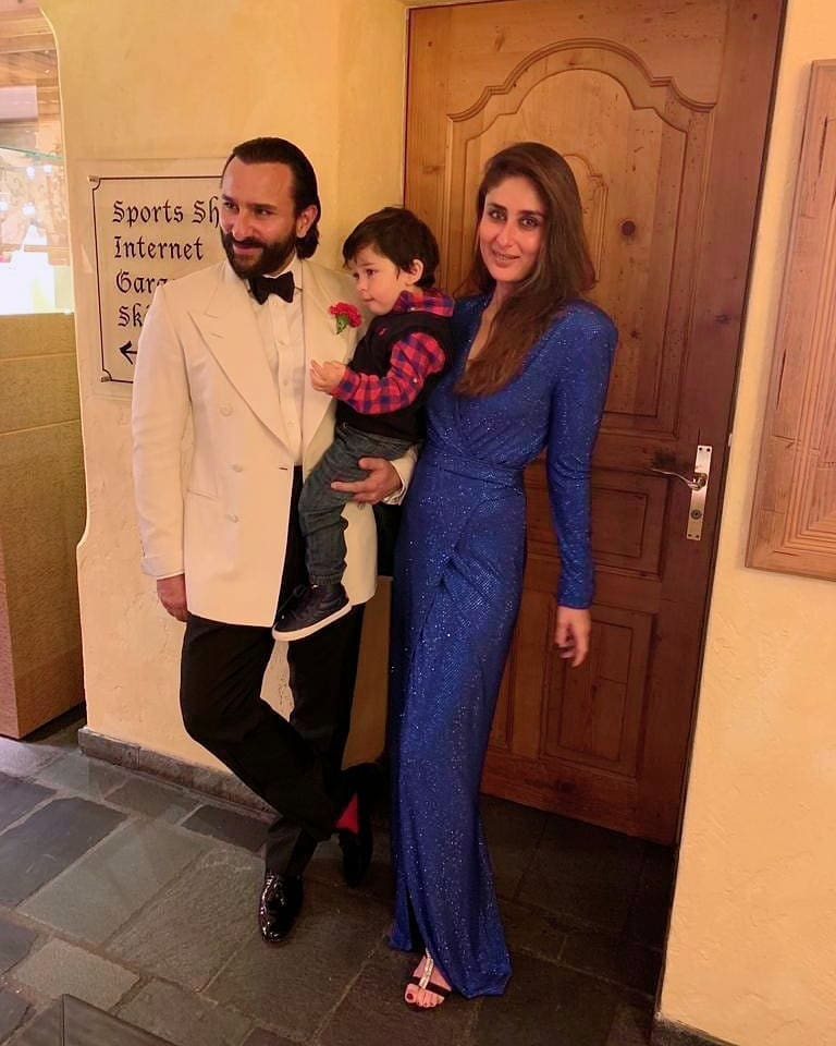 kareena kapoor with saif ali khan and her son