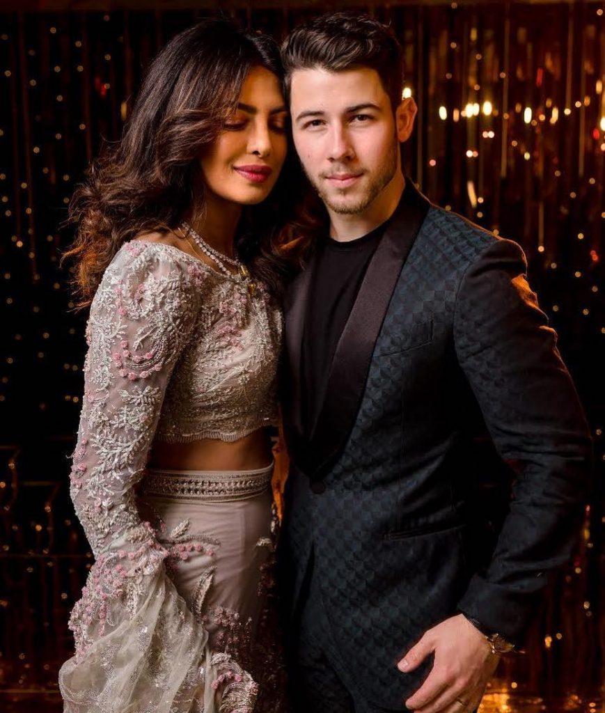 priyanka chopra with husband nick jones wallpaper 869x1024