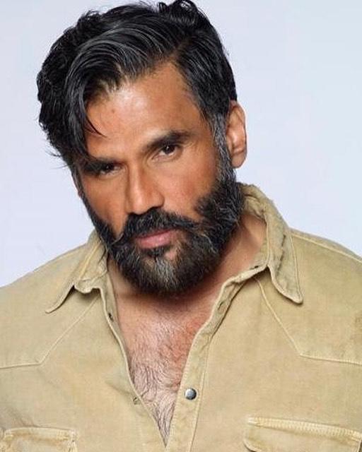 suniel.shetty beard photoshot