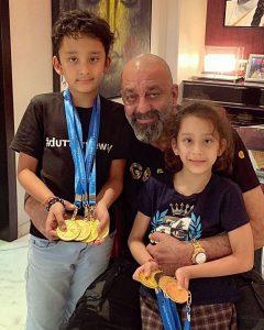 Sanjay Dutt with kids 240x300