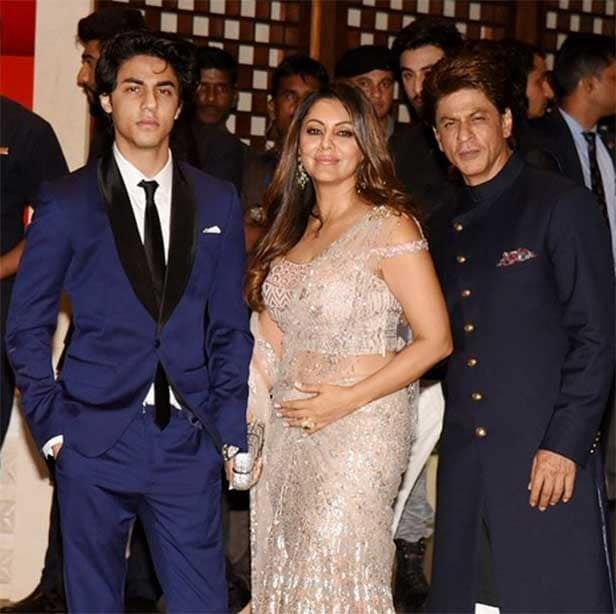 aryan khan with family