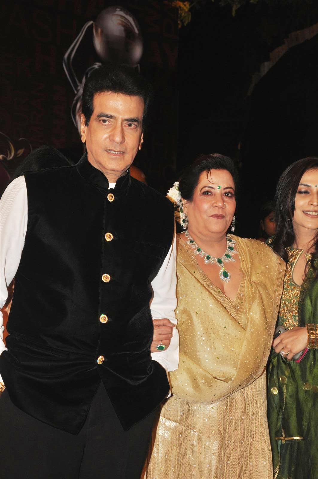 3pve6o6glwuc8mai.D.0.Jeetendra with Shobha Kapoor at the Global Indian Film TV Awards