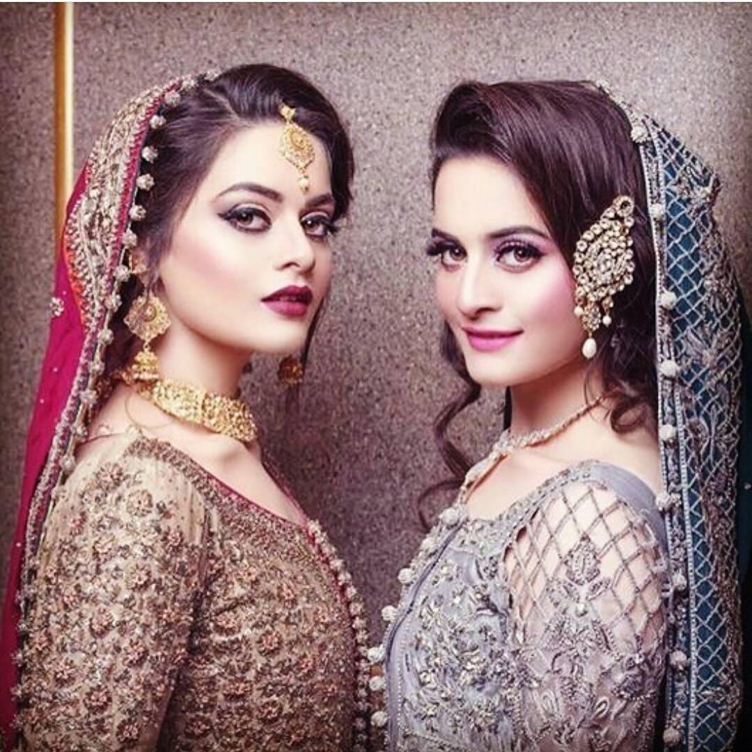 Aiman Khan Minal Khan Bridal Shoot 2017 8