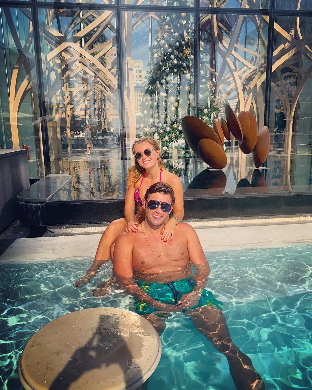 Jack Fincham in swimming pool