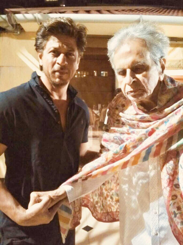 Shah Rukh Khan with Dilip Kumar