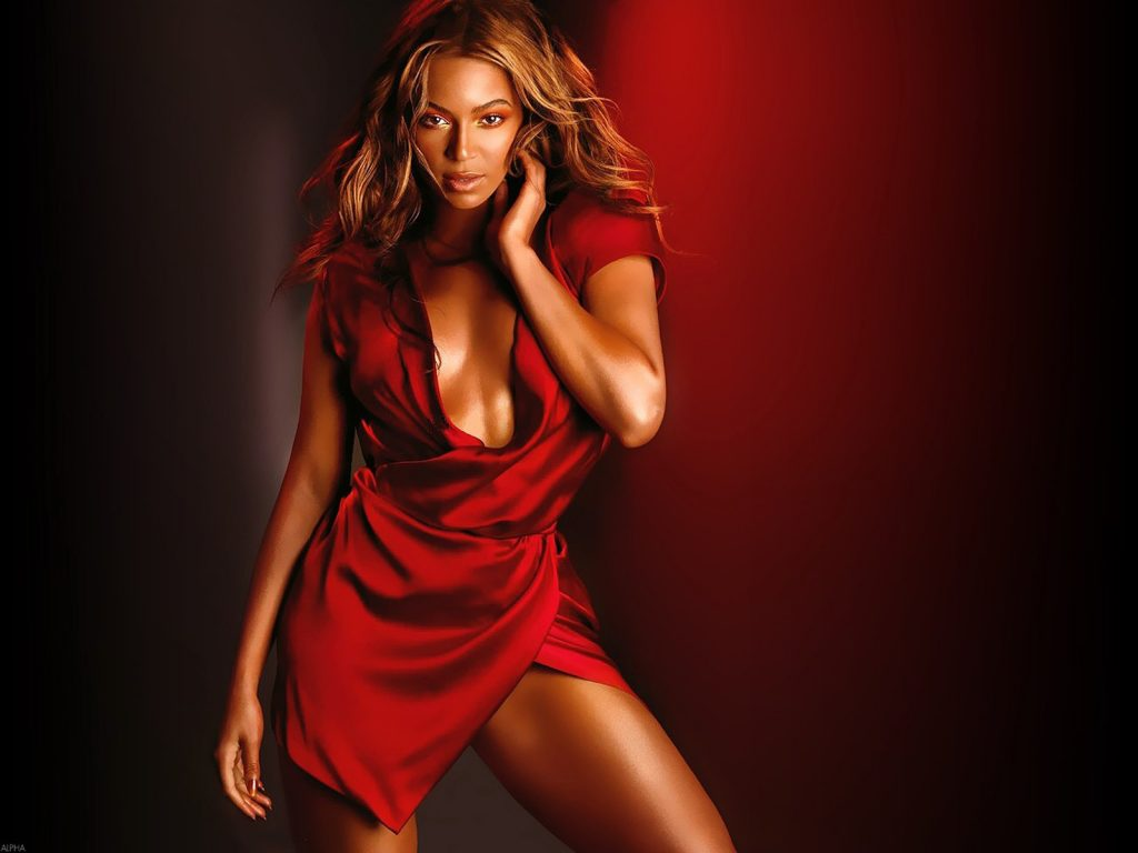 Beyonce knowles red sexy hd poster Vvallpaper.net  1024x768
