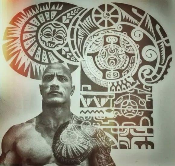 Rock Johnson Tattos