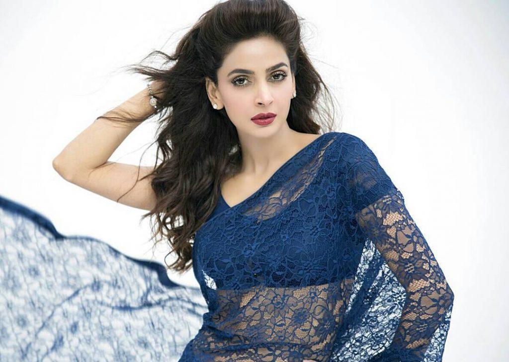 Saba Qamar stunning in saree 1024x729