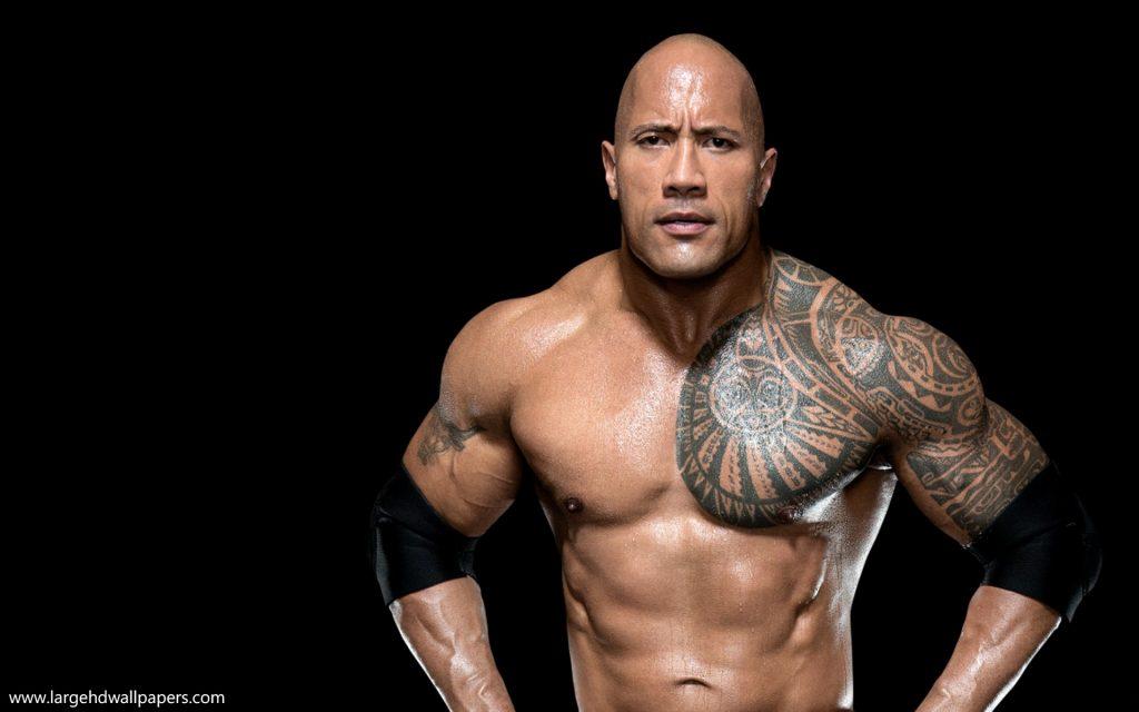 WWE Superstar Dwayne The Rock Johnson Body HD Wallpapers 1024x640