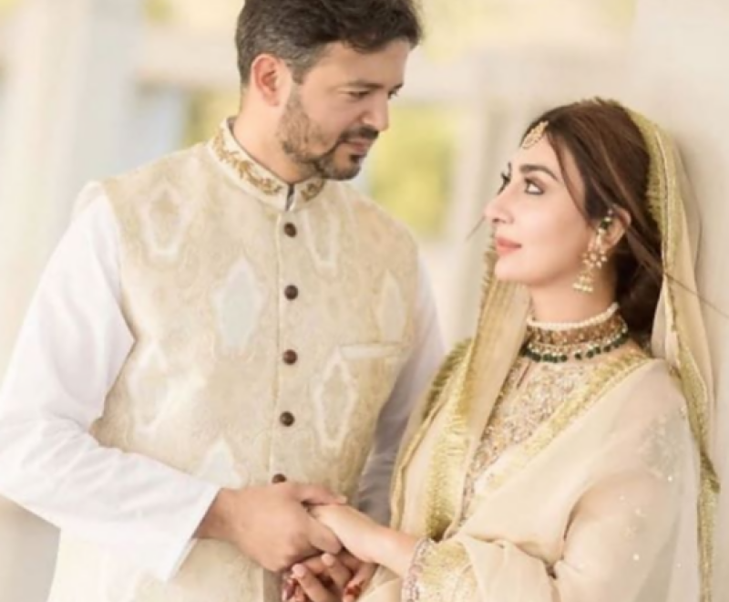 watch ayesha khan looks stunning at her nikah ceremony 800x660
