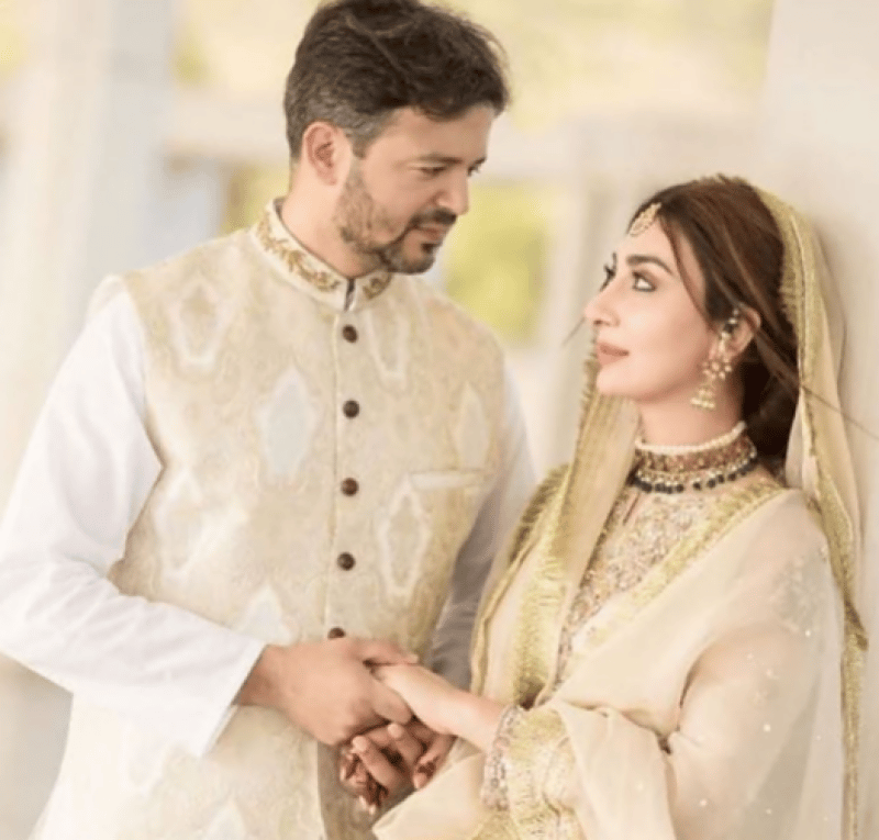 watch ayesha khan looks stunning at her nikah ceremony