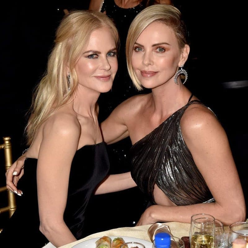 Charlize Theron with Amy Adams