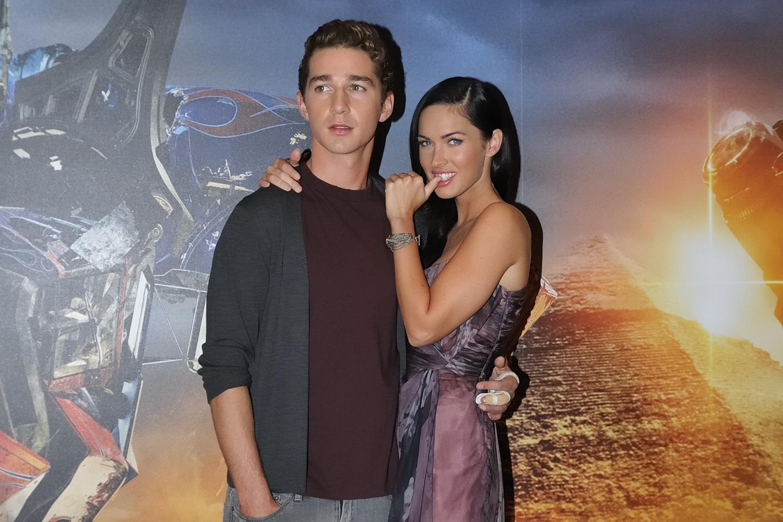 Megan Fox with shia from transformers movie