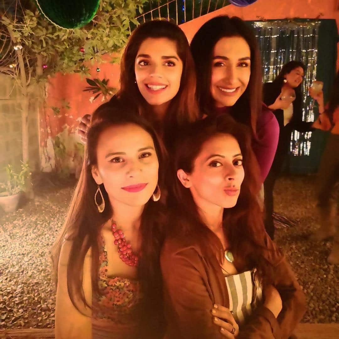 Sanam Saeed with her friends