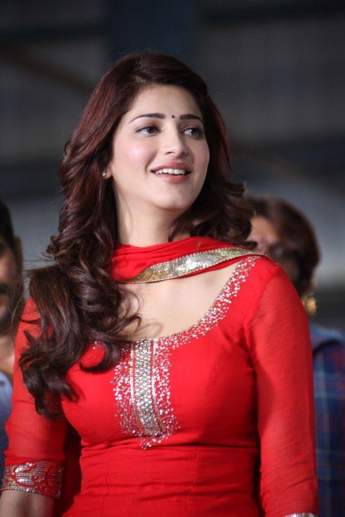 Shruti Haasan in red dress