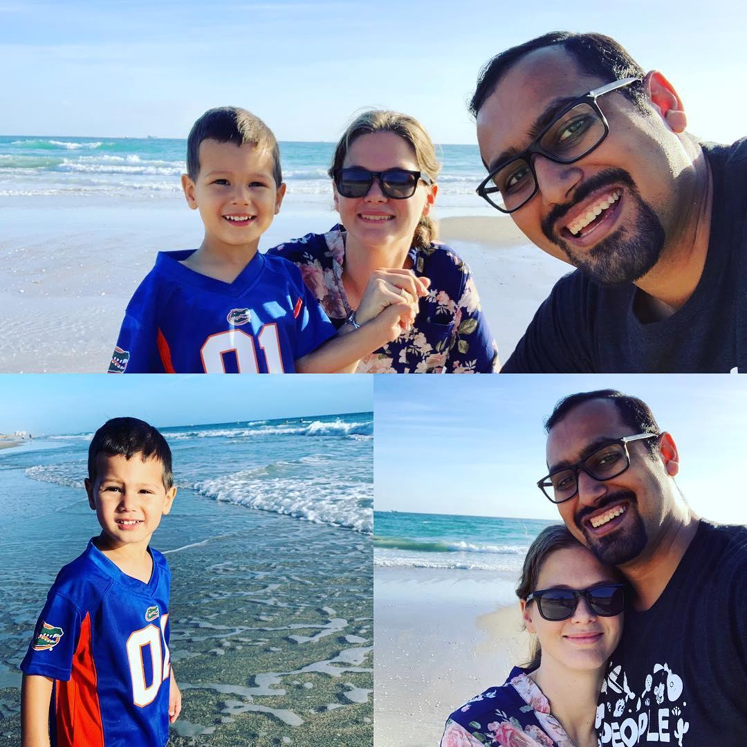 Syed Balkhi with family Amanda Balkhi and son