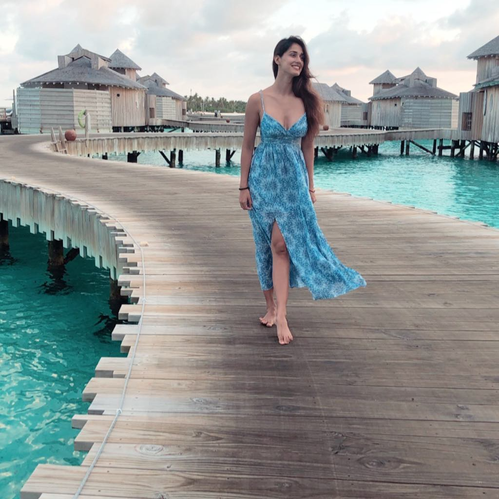 disha patani blue dress
