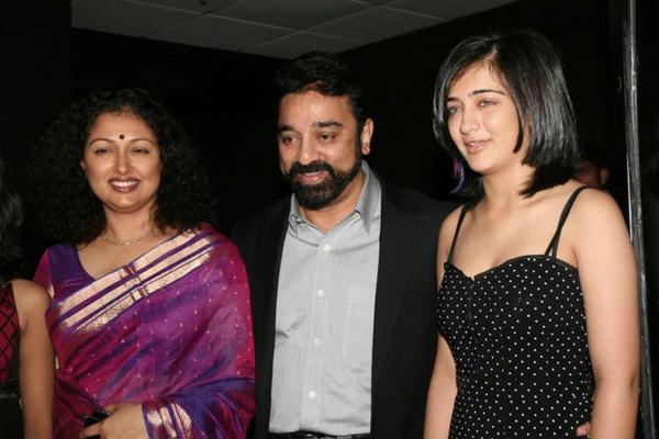 kamal haasan with akshata and gautami