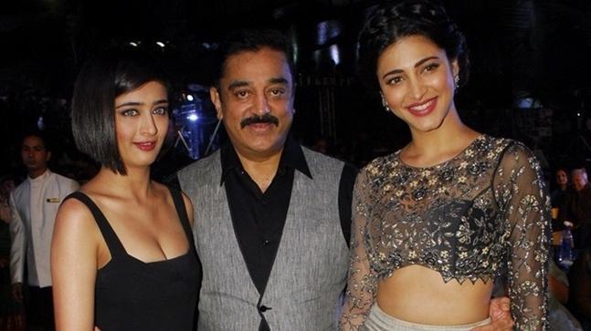 kamal haasan with his daughter