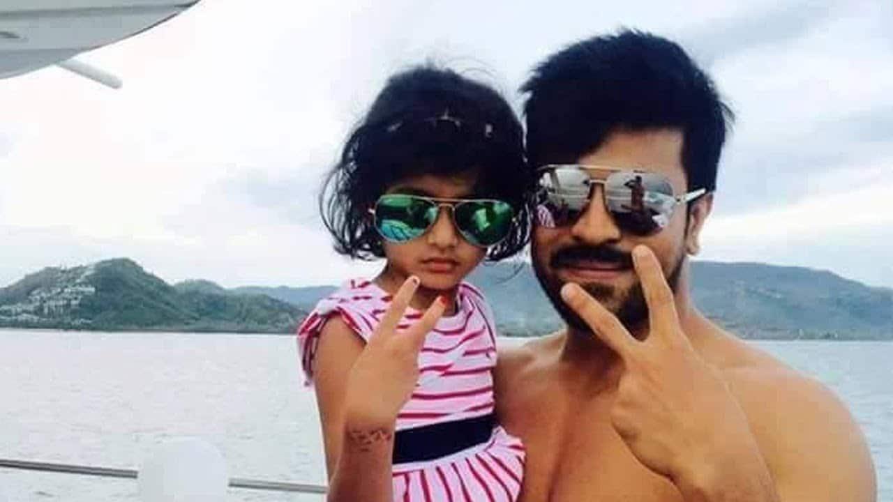 ram charan with Pawan Kalyan daughter