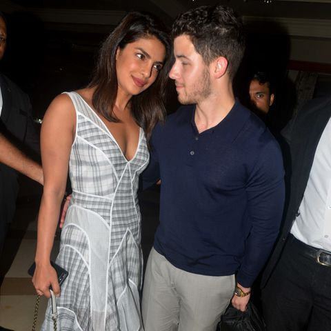 Nick Jonas with his wife Priyanka Chopra