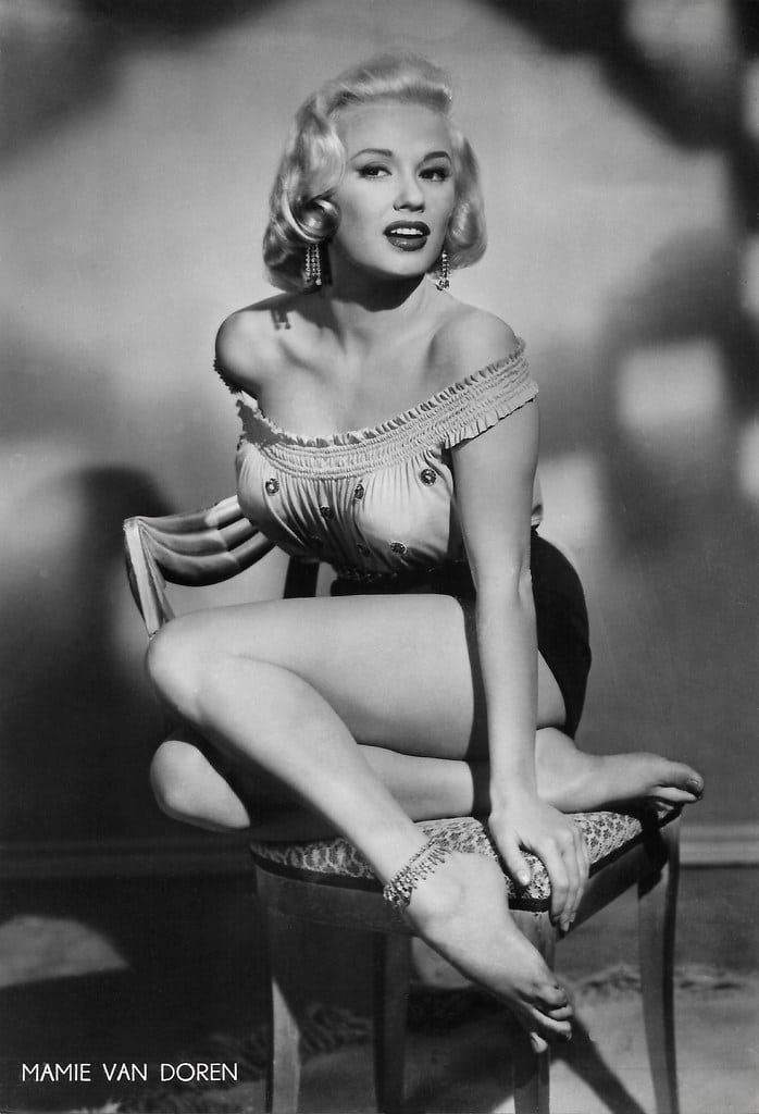 Mamie Van Doren American Actress Model and Singer