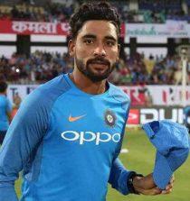 Mohammed Siraj Cricketer