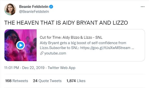 Beanie Tweet For Lizzo Performance