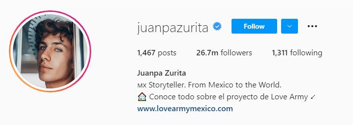 Juanpa Zurita Instagram