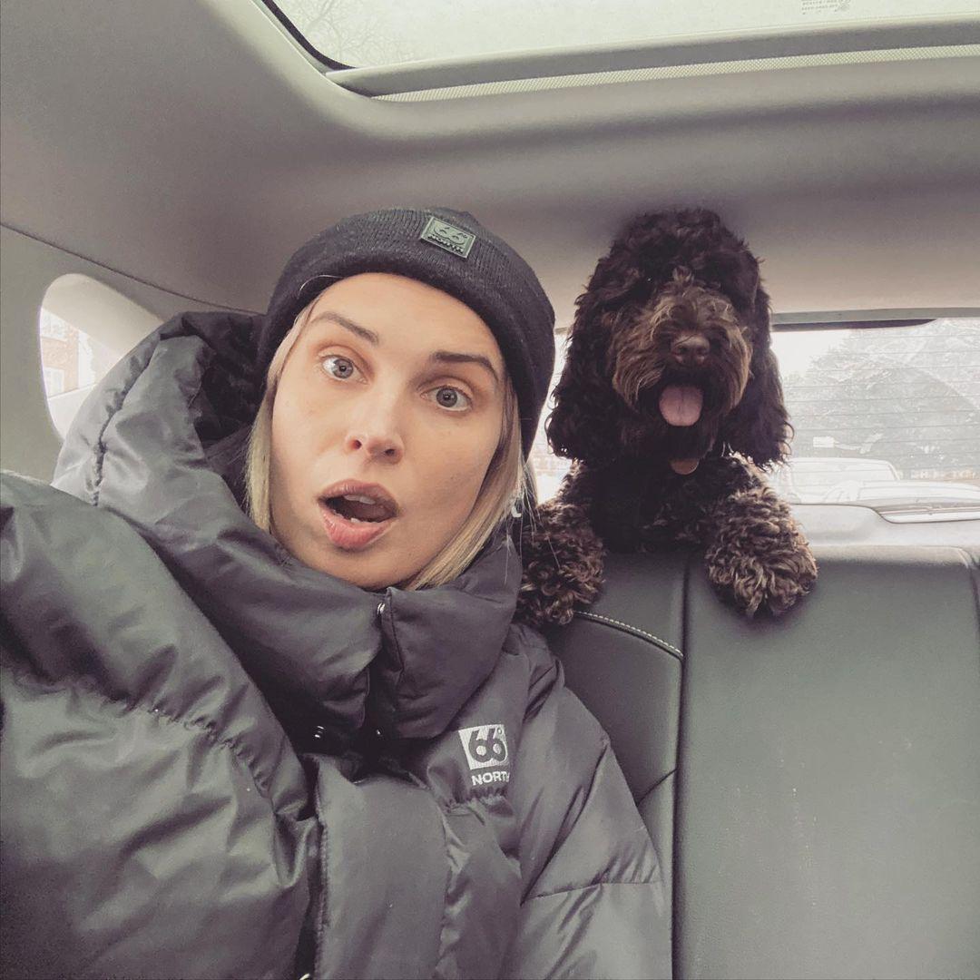 Heida with her dog