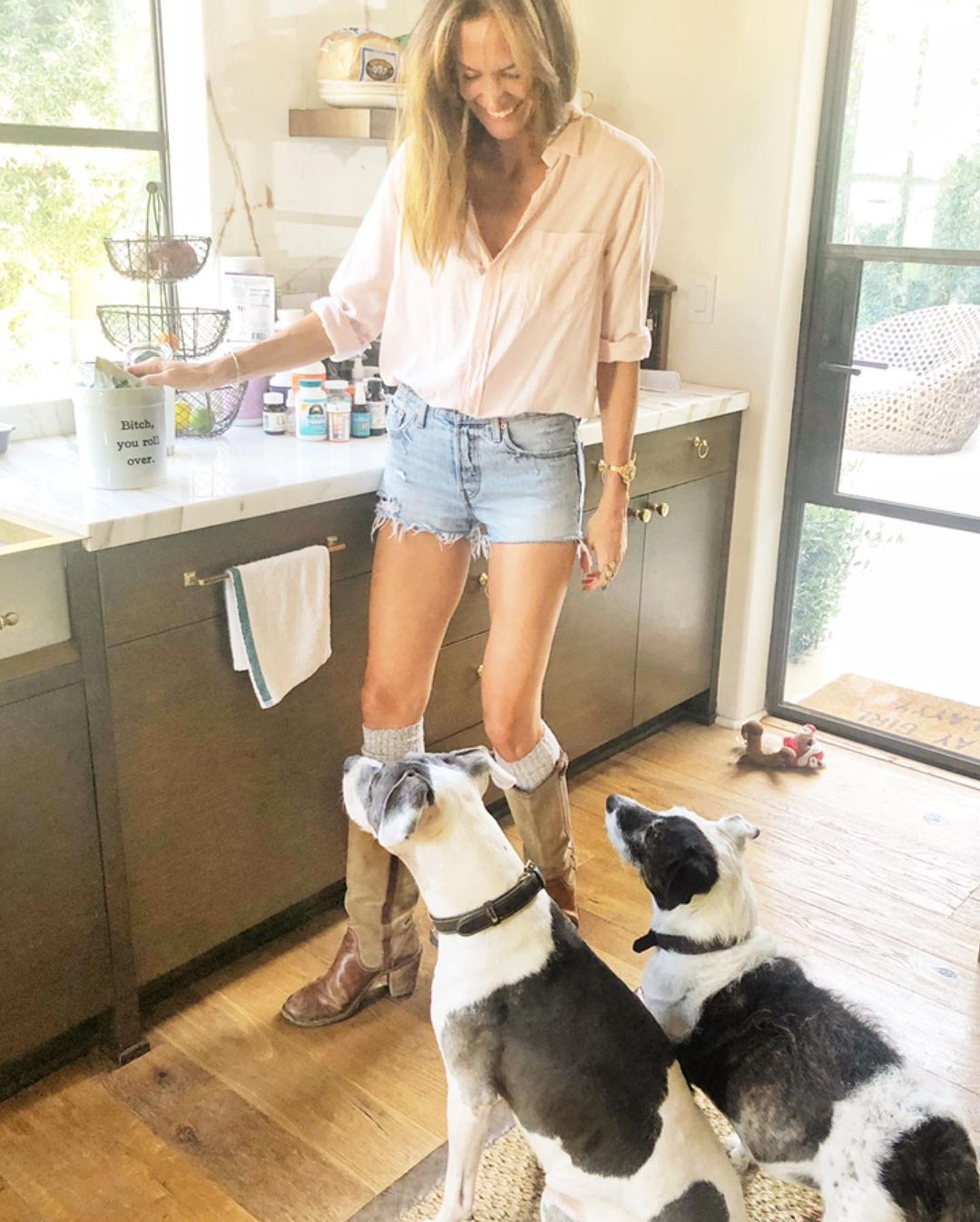 Morgan with her pets