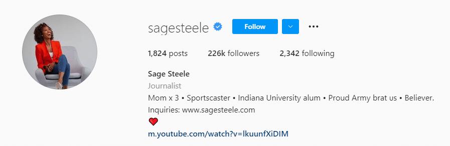 Saage Steele instagram